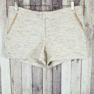 Joie Arroyo Tweed Shorts in Mushroom